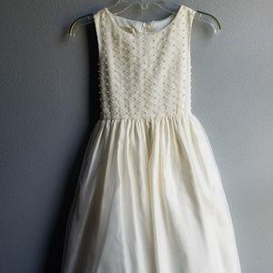 Cinderella Cream Dress w/Pearl Accented Bodice, s7